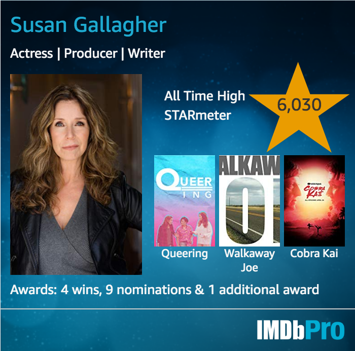 Susan Gallagher IMDb Pro Card